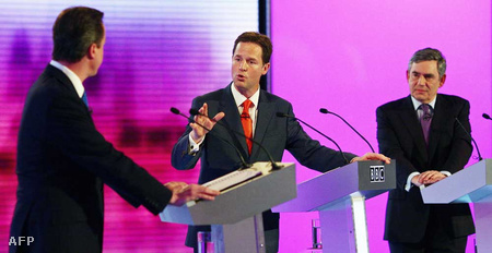 David Cameron, Nick Clegg és Gordon Brown