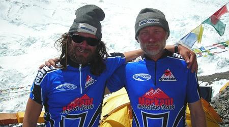 Klein Dávid és Várkonyi László a Mount Everest Alaptáborában 2007-ben
