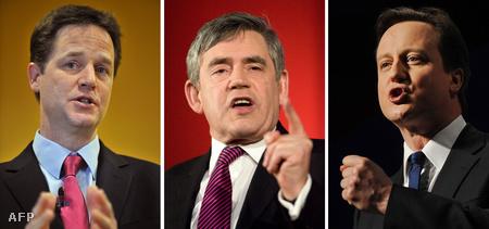 Nick Clegg, Gordon Brown és David Cameron