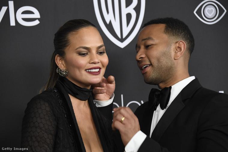 Hogy egy igazi sztárpárt is mutassunk:Chrissy Teigen és John Legend