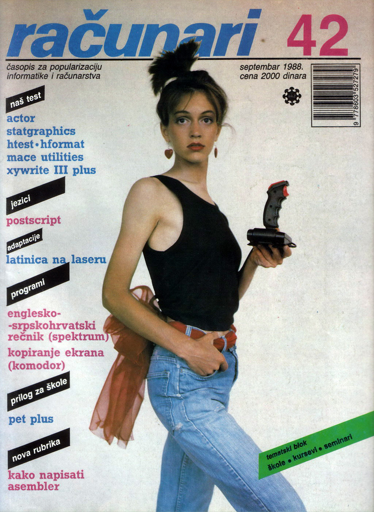 Joystick és egy nő a magazin 1988-as címlapján.