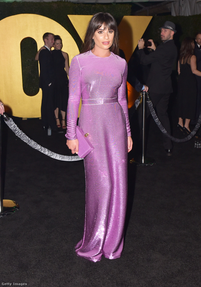 Lea Michele velőtrázóan lila volt aznap este.