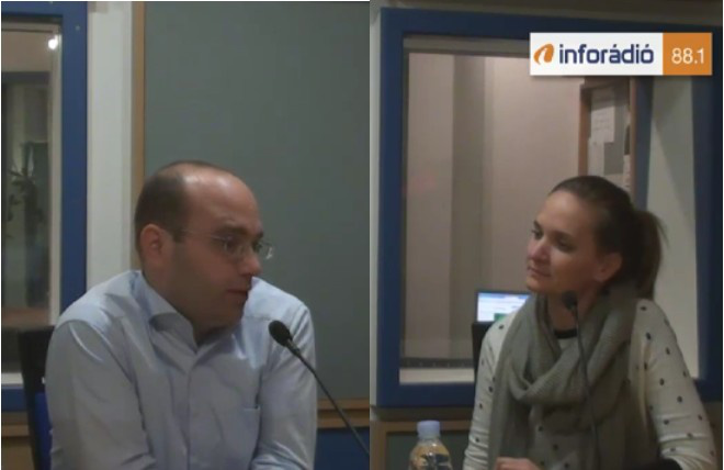Magyar Kornélia és Mráz Ágoston Sámuel az Arénában