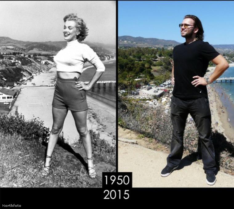 Ez Marilyn Monroe, Paradise Beachnél készült fotója