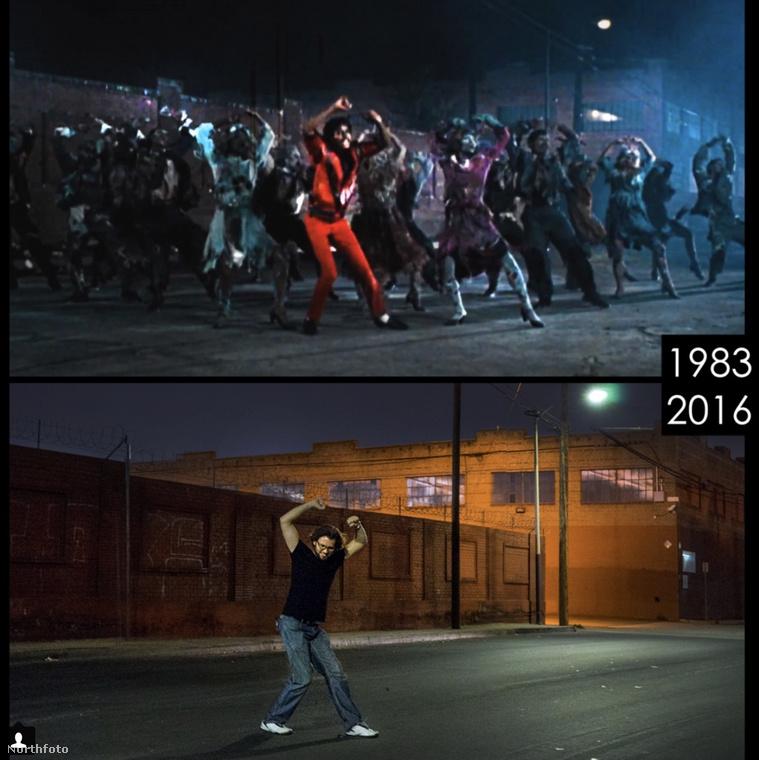 Valószínű Phil Grishayev egy igazi Jacko rajongó, a Thriller híres jelenetében is újrafotóztatta magát.