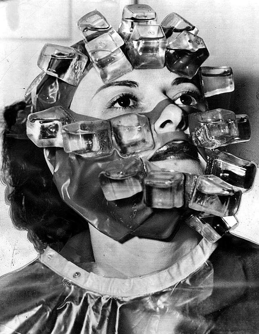 1966: frissítő arckezelés jégkockamaszkkal, amit elsősorban színésznők számára fejlesztettek ki, hogy az egyes felvételek között formában tartsa az arcot a smink tönkretétele nélkül.