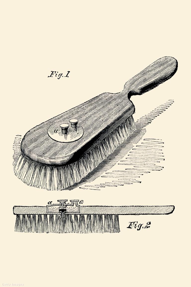 1883-ban, 134 évvel az okoshajkefe előtt találták fel ezt az ötletes eszközt, ami a közepébe beépített kis tartály révén krémet, olajat vagy egyéb bőr- vagy hajápolószert adagolt a fejre fésülködés közben.