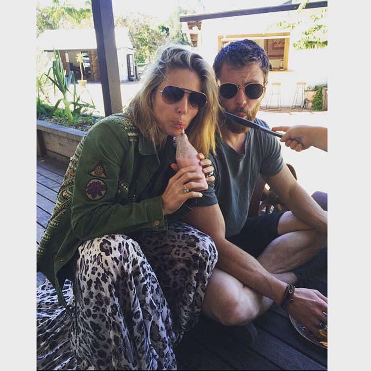 Hét ez Chris Hemsworth és Elsa Pataky családja.                         #irigy