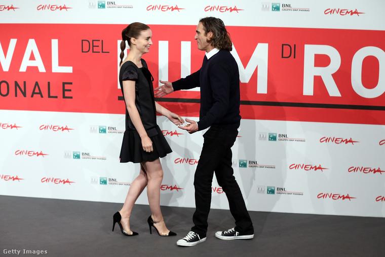 Rooney Mara és Joaquin Phoenix a Római Filmfesztiválon 2013-ban.