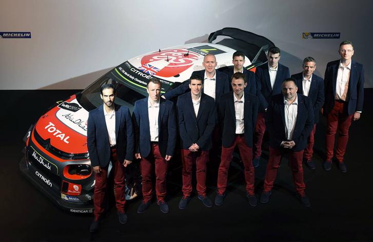 A teljes Citroen Racing. Balról a sorrend: Hálid al-Kaszimi, Kris Mekee, Craig Breen, Stéphane Lefebvre és Yves Matton