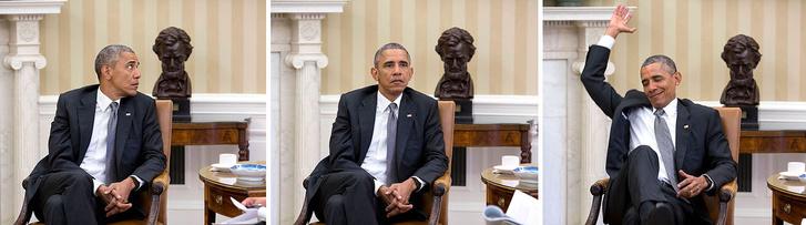Obama váratlan híreket kap egy reggeli értekezleten