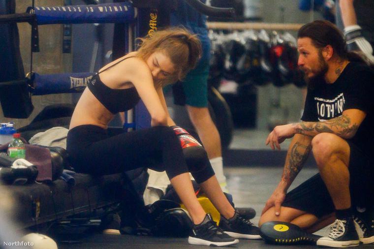 A modell január 16-án, hétfőn ugrott le edzeni a New Yorki-i Gotham Gymbe.