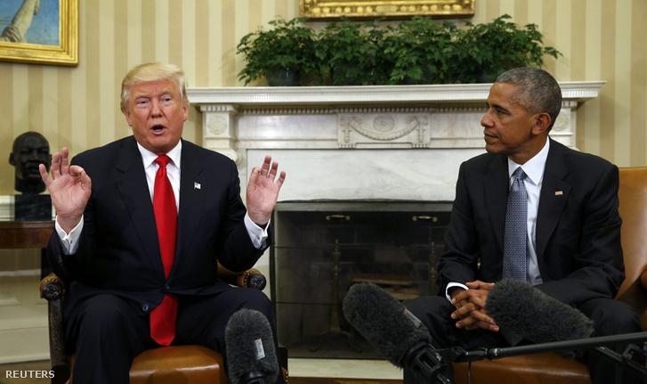 Trump és Obama találkozója 2016. november 10-én