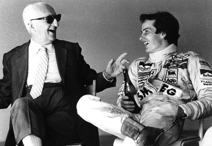 Enzo Ferrari és Gilles Villeneuve