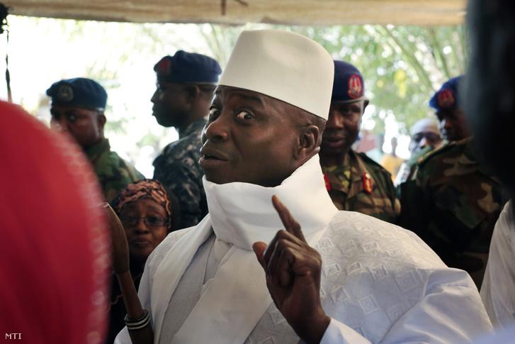 Yahya Jammeh a választás napján.