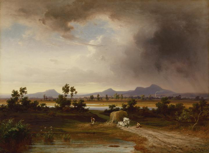 Ligeti Antal: Bodrogközi táj 1870
