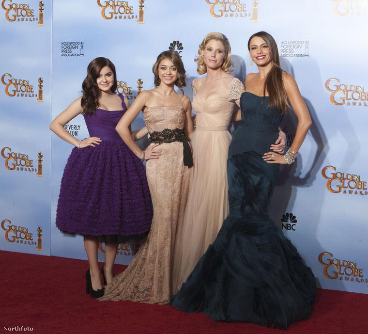 A modern család színésznői: bal oldalon Ariel Winter, a kép jobb szélén pedig Sofia Vergara. Northfoto