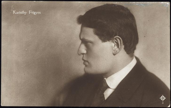 Karinthy Frigyes 1913 körül. Levelezőlapként is forgalmazott kép.