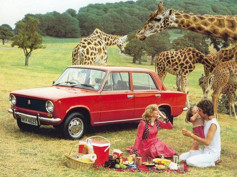 Zsiráfok között piknikező ladás család! Garantáltan nem Photoshop :)
