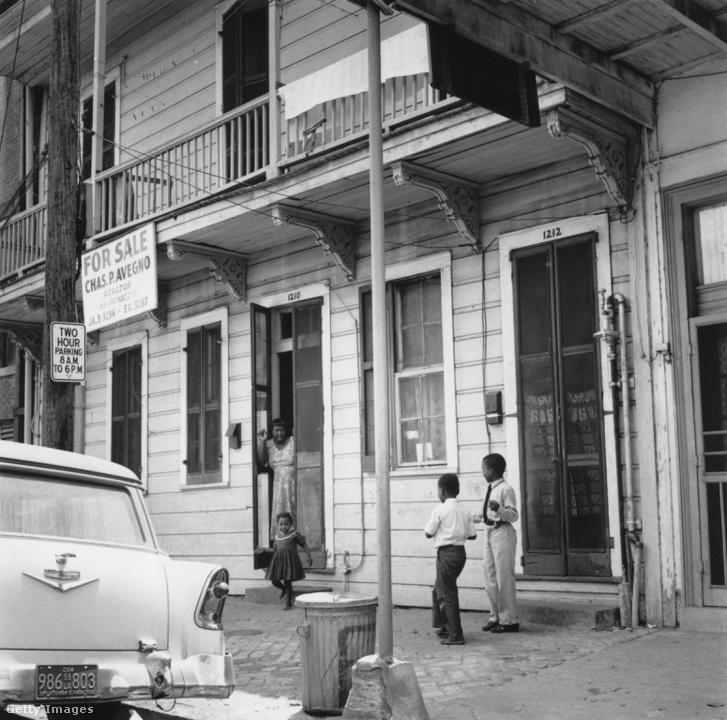Storyville-i házsor 1955. körül