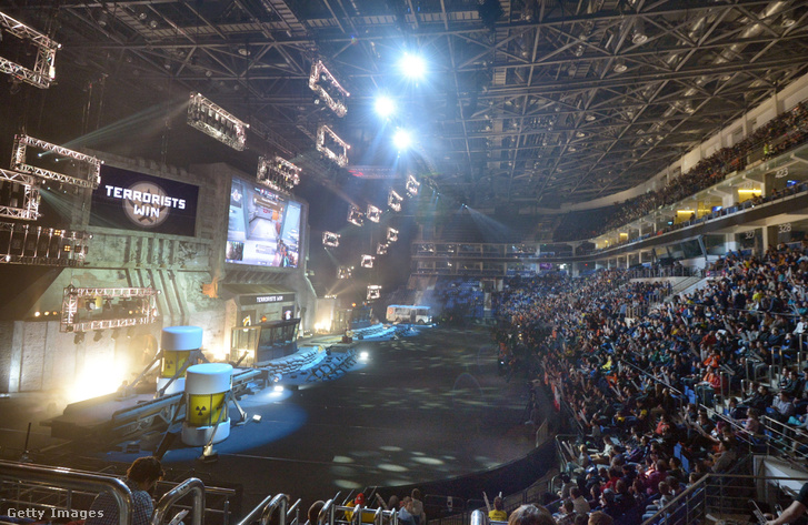 E-sport verseny Moszkvában 2016. októberében.