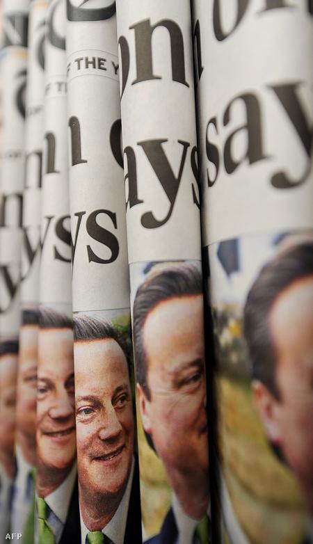 David Cameron, a konzervatívok félsikert elérő vezére