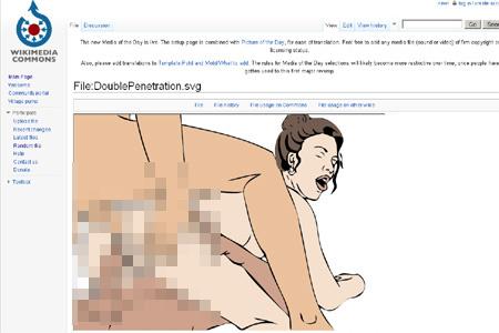 Tizennyolcas karika: egy illusztratív rajzos és egy explicit pornográf kép a Wikipédián