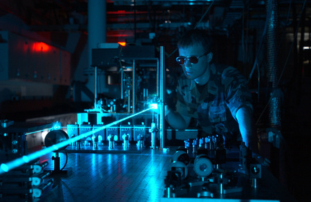 Military laser experiment