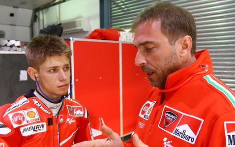Livio Suppo és Casey Stoner, 2007.