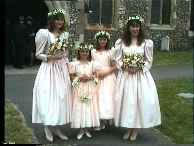 Hát így zajlott Maranda Foote és Gary Goldsmith esküvője 1991-ben, Kate és Pippa Middleton segédletével.