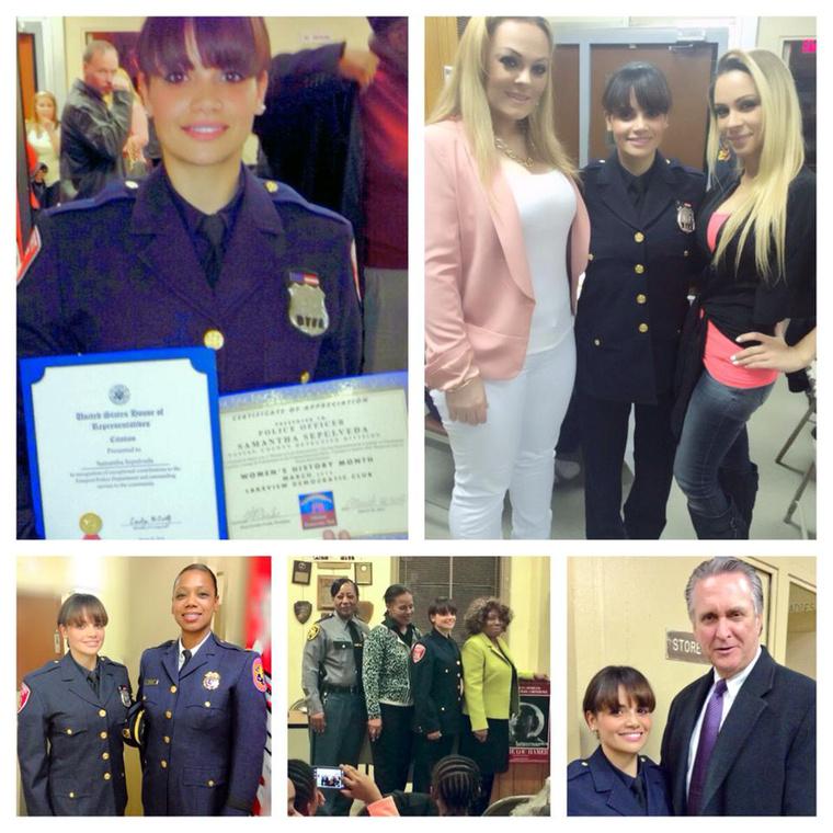 A 32 éves Samantha Sepulveda hét éve erősíti a New York-i rendőrség állományát, és szolgálati pisztolya mellett van egy másik fegyvere, ami ugyan nincs rendszeresítve, mégis rendkívül hatékony eszköznek bizonyul a bűnüldözésben.