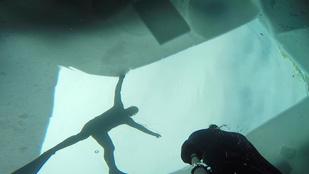 Nem a feledésbe merült a búvár, aki szabad tüdővel fedezett fel egy roncsot a jég alatt