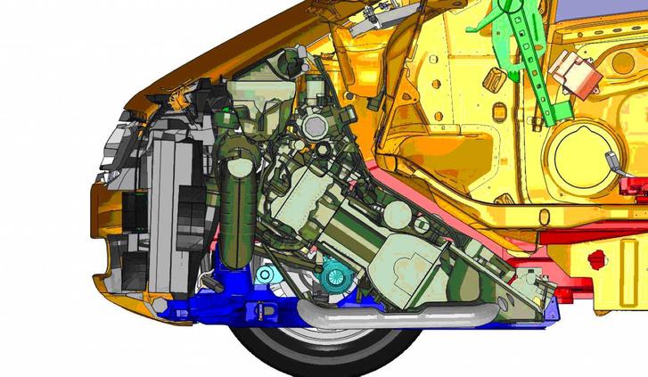 A jó helykihasználás egyik alapköve: a döntött, hátratolt motor