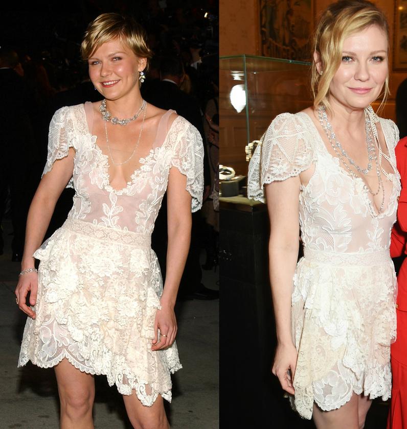 És a végére két kép, ha még mindig kételkedne: a bal oldali 2004-ben, a Vanity Fair Oscar-buliján készült, a jobb oldali pedig most, Párizsban