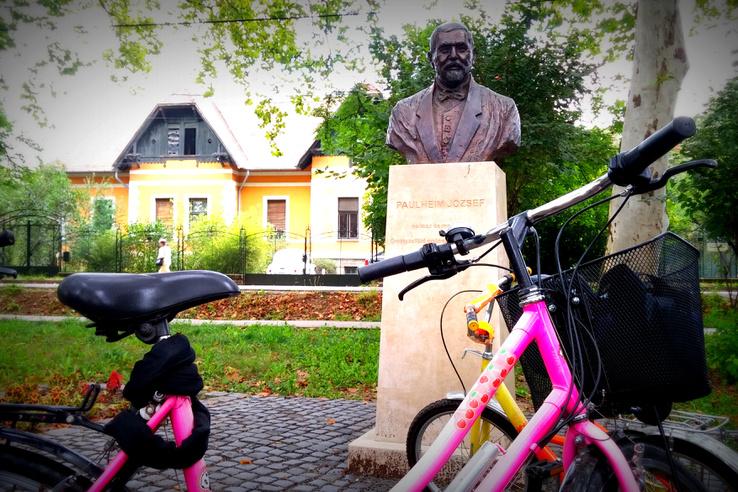 A háttérben Haidekker Sándor háza - a környékbeli kerítéseket az ő cége gyártotta