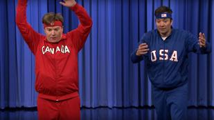 Mike Myers továbbra is vicces figura: Jimmy Fallonnal táncpárbajozott