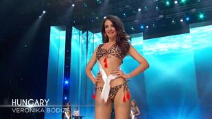 Ebben a párducmintás bikiniben vonult Vajna Tímea felfedezettje, Bódizs Veronika