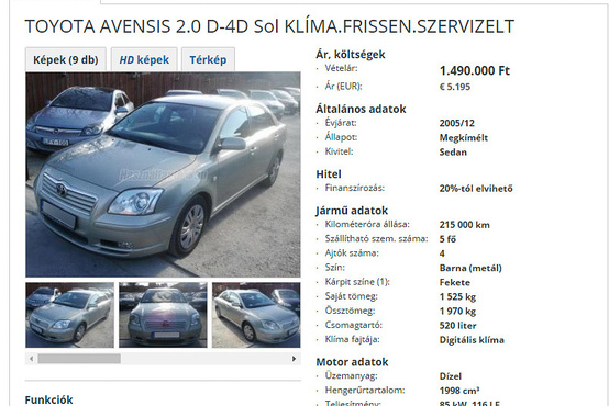 Közel félmillió kilométerről ugrott vissza 200 ezer közelébe az Avensis óraállása. Ez a legsúlyosabb eltérés, amit az utóbbi időben láttunk. A Toyota beltere látszólag igen jól viseli az igénybevételt, de ez sajnos nem jelenti azt, hogy a motor nem egy időzített bomba