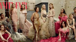 Mit csinál egy képen Natalie Portman, Amy Adams, Emma Stone és Dakota Fanning?