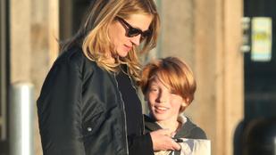 Kedves fotók: Julia Roberts anya-fia napot tartott