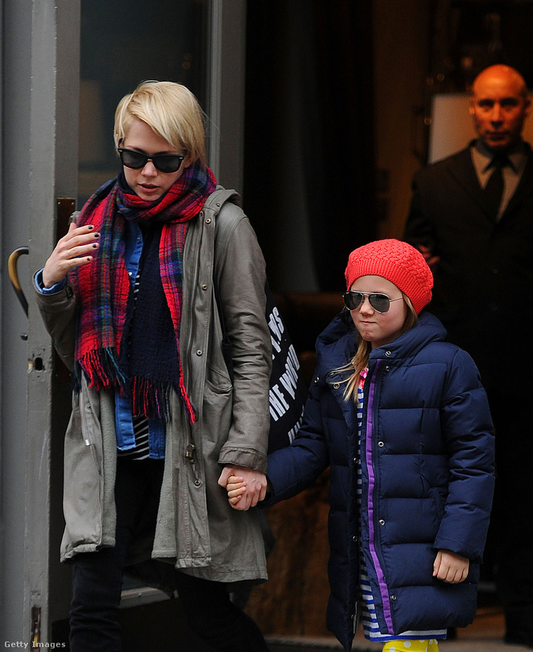 Michelle Williams és kislánya, Matilda Rose.