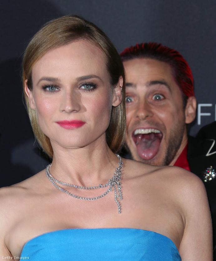 A főleg a Trója című filmből ismert német színésznőt, Diane Krugert is meglepte egy idióta vigyorral