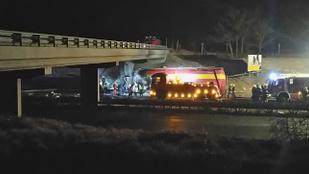 Súlyos kamionbaleset történt az M1-es autópályán
