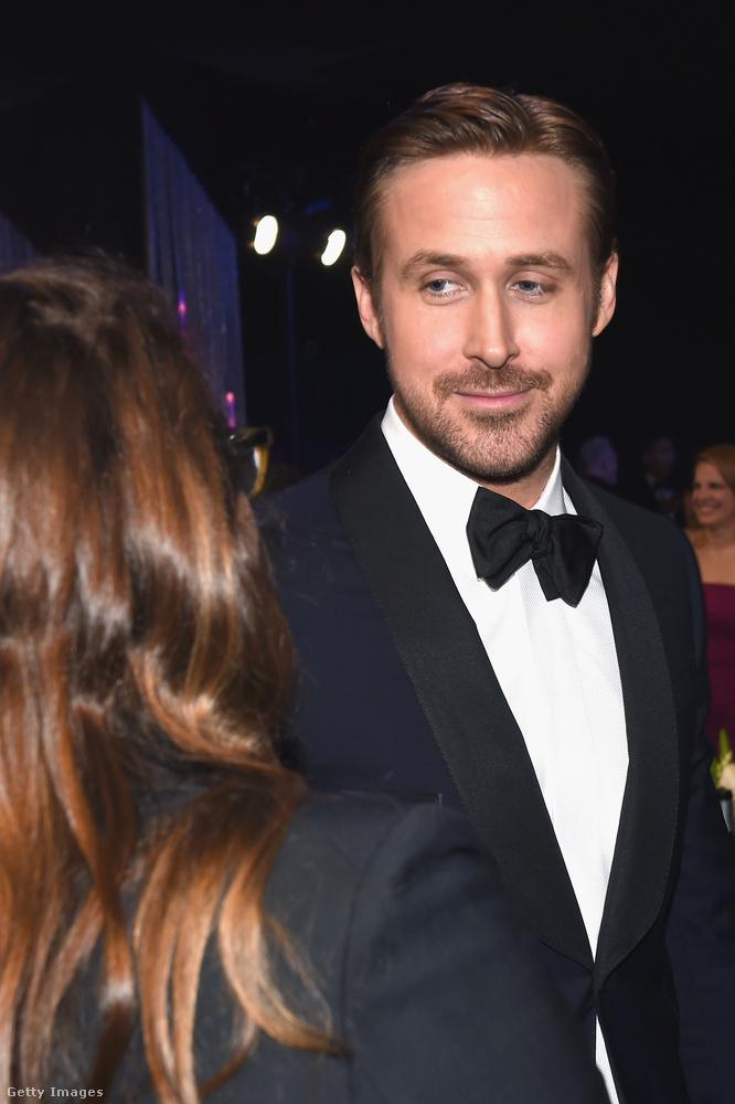 Ez a kép a SAG-gálán készült, azaz a hollywoodi színészek, mondjuk úgy, szakszervezetének évi rendes ünnepélyén