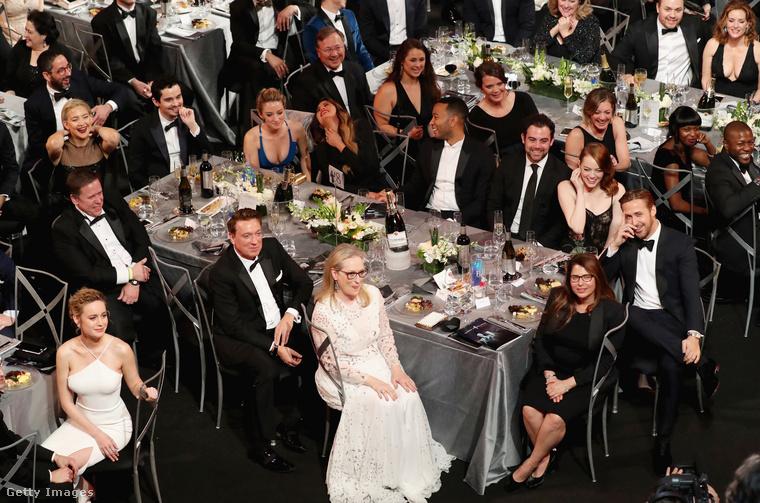 Közelebbről nézve persze feltűnik Meryl Streep, Ryan Gosling, Kate Hudson, Brie Larson, Chrissy Teigen, John Legend, és számtalan kollégájuk