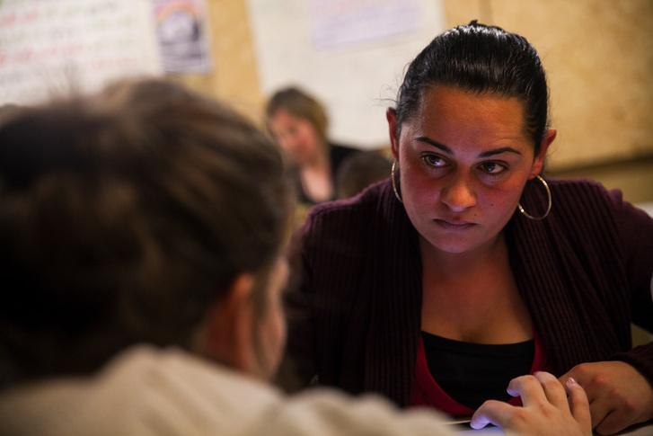 A 27 éves Katrin anno a hetedik osztályig jutott, de most egy év tanulás után befejezheti az általánost