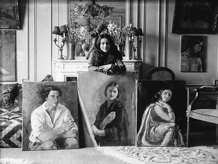 Amrita Sher-Gil három festményével