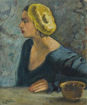 Amrita Sher-Gil portréja 18 évesen