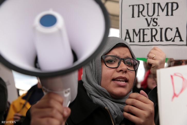 Tiltakozók Atlantában