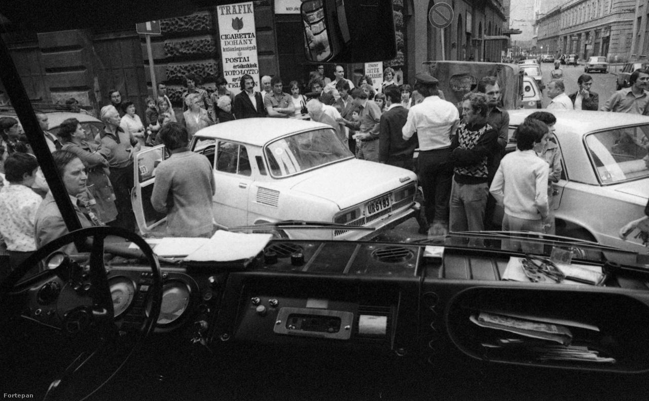 Közúti baleset a nyolcvanas években